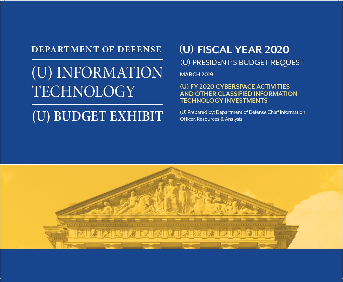 FY2020 IT President's Budget Request Reports DoD Overview